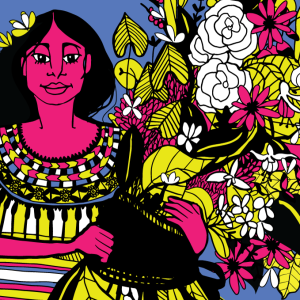 A series of coffee cup designs for a Milwaukee coffee company  inspired by Guatemala (Colectivo likes to represent the cultures of the origin of their coffee) and also the colorful pre-columbian textiles and art