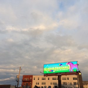 Milwaukee Film Festival 2016 billboard ad. Design by Lone Shoe Graphics, Photo source: https://www.facebook.com/MilwaukeeFilm/