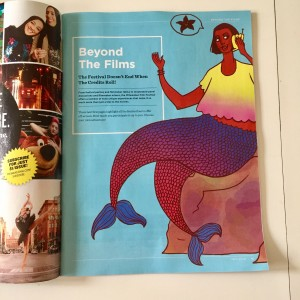 Milwaukee Film festival Guide. Design by Lone Shoe Graphics
