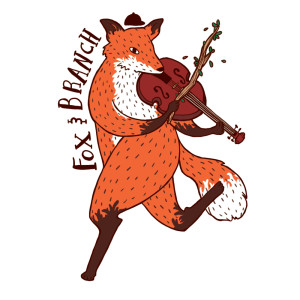 Sticker design for Milwaukee local folk band Fox & Branch