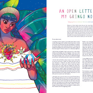 "Editorial Illustration in collaboration with writer/activist Prisca Dorcas Mojica Rodriguez for her essay ""An Open Letter to My Gringo Novio."""