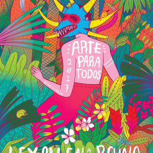 "Event poster for Milwaukee's art festival ""Arte Para Todos"" to raise money for public school art programs"